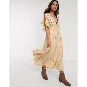 Free People Will Wait For Midi Embroidered Dress